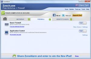 Enlarge ZoneAlarm Free Antivirus + Firewall Screenshot