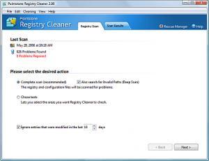 Enlarge Pointstone Registry Cleaner Screenshot