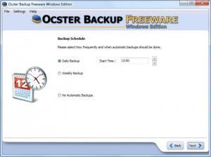 Enlarge Ocster Backup Free Screenshot
