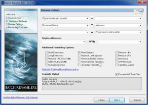 Enlarge Batch Rename .EXE Screenshot