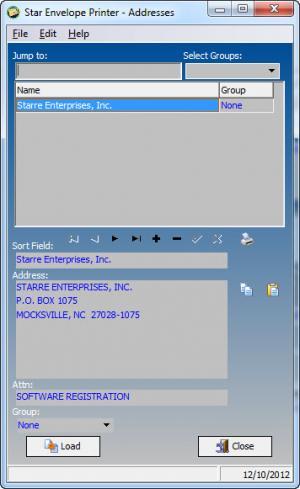 Enlarge Star Envelope Printer Pro Screenshot