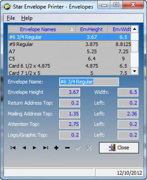 Enlarge Star Envelope Printer Pro Screenshot