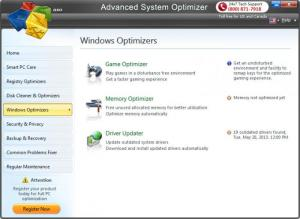 Enlarge Advanced System Optimizer Screenshot