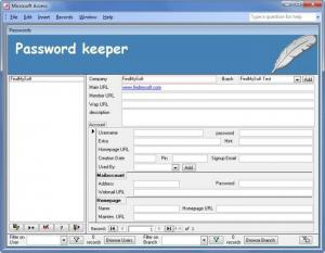 Enlarge Password Keeper Screenshot