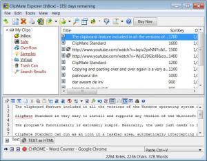 Enlarge ClipMate Standard Screenshot