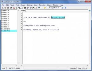 Enlarge MetPad Screenshot