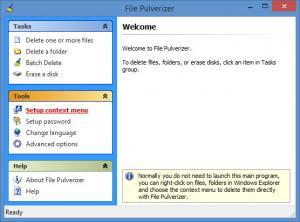 Enlarge File Pulverizer Screenshot