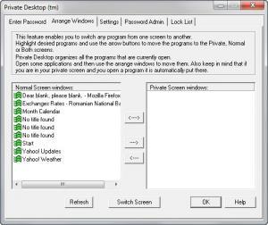 Enlarge Private Desktop Screenshot