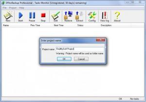 Enlarge DFIncBackup Professional Screenshot