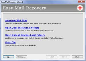 Enlarge Easy Mail Recovery Screenshot