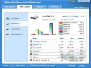Enlarge WinMend Disk Cleaner Screenshot