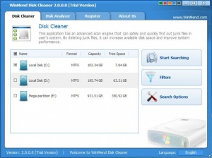 Enlarge WinMend Disk Cleaner Screenshot