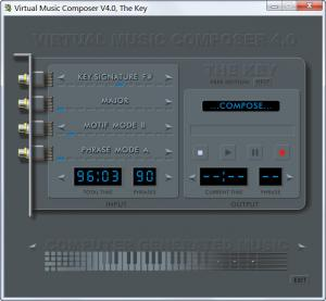 Enlarge Virtual Music Composer - The Key Screenshot