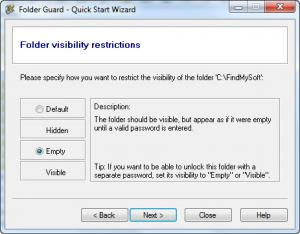 Enlarge Folder  Guard Screenshot
