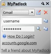 Enlarge MyPadlock Password Manager Screenshot