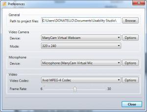 Enlarge Usability Studio Screenshot