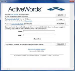 Enlarge ActiveWords Screenshot