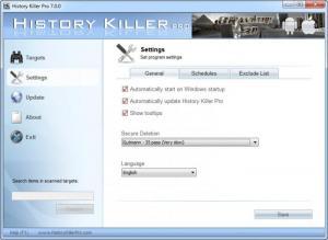 Enlarge History Killer Pro Screenshot