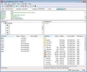 Enlarge FileZilla Screenshot