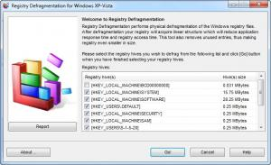 Enlarge Registry Defragmentation Screenshot