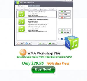 Enlarge WMA Workshop Plus Screenshot
