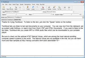 Enlarge TextAloud Screenshot
