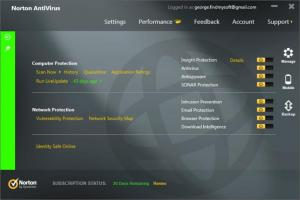 Enlarge Norton AntiVirus Screenshot