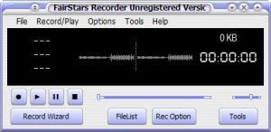 Enlarge FairStars Recorder Screenshot