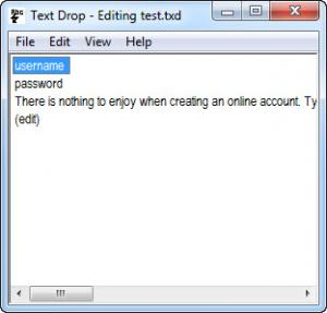 Enlarge Text Drop Screenshot
