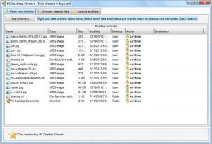 Enlarge PC Desktop Cleaner Screenshot