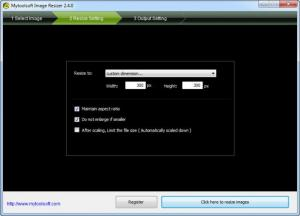 Enlarge Mytoolsoft Image Resizer Screenshot