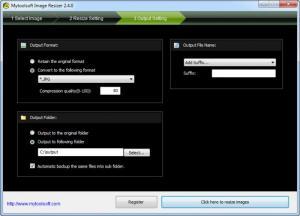 Enlarge Mytoolsoft Image Resizer Screenshot