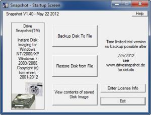 Enlarge Drive Snapshot Screenshot