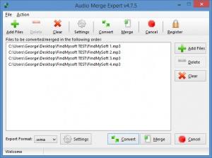 Enlarge Audio Merge Expert Screenshot