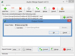 Enlarge Audio Merge Expert Screenshot
