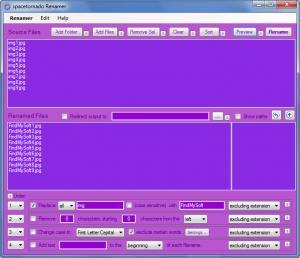 Enlarge Spacetornado Renamer Screenshot