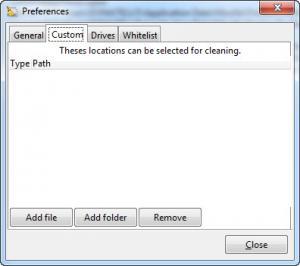 Enlarge BleachBit Screenshot