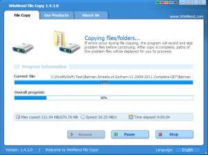 Enlarge WinMend File Copy Screenshot