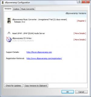 Enlarge  dBpoweramp Music Converter (dMC) Screenshot