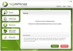 Enlarge RegDefense Screenshot