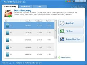 Enlarge WinMend Data Recovery Screenshot