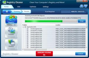 Enlarge Registry Cleaner Pro Screenshot