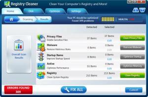 Enlarge Registry Cleaner Pro Screenshot