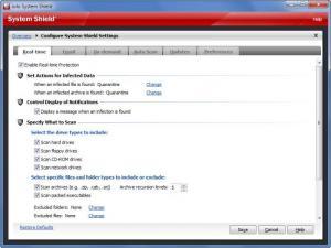 Enlarge System Shield Screenshot