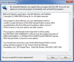Enlarge Net Statistics Screenshot