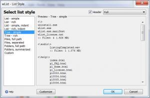 Enlarge wList Screenshot
