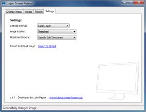 Enlarge Logon Screen Rotator Screenshot