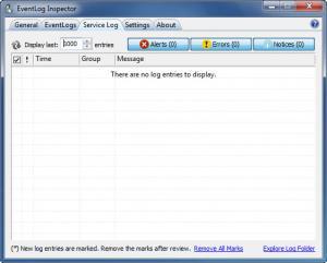 Enlarge EventLog Inspector Screenshot