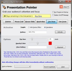 Enlarge Presentation Pointer Screenshot