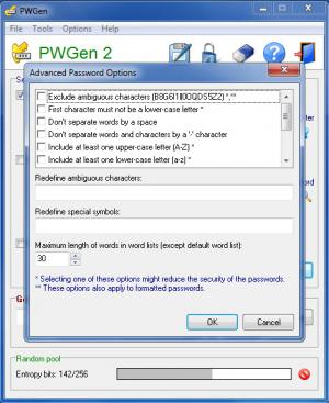 Enlarge PWGen Screenshot